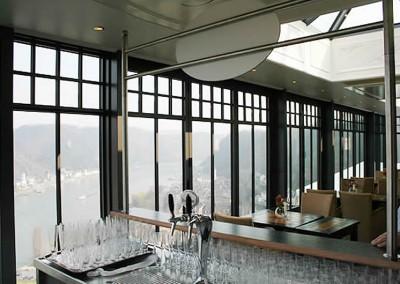 Hotelterasse Romantikhotel Rheinfels
